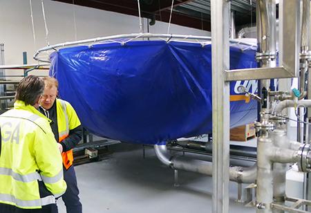 I den store blå ballon opsamles CO2